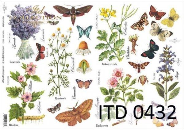 Decoupage paper ITD D0432