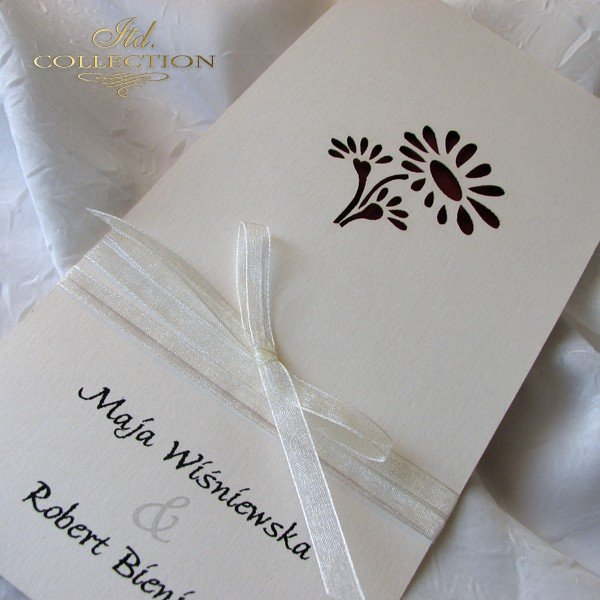Invitations / Wedding Invitation 1722_68_ claret