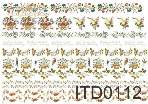 Decoupage paper ITD D0112