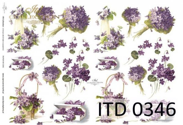 Decoupage paper ITD D0346