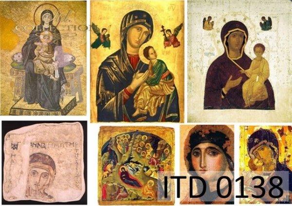 Decoupage paper ITD D0138