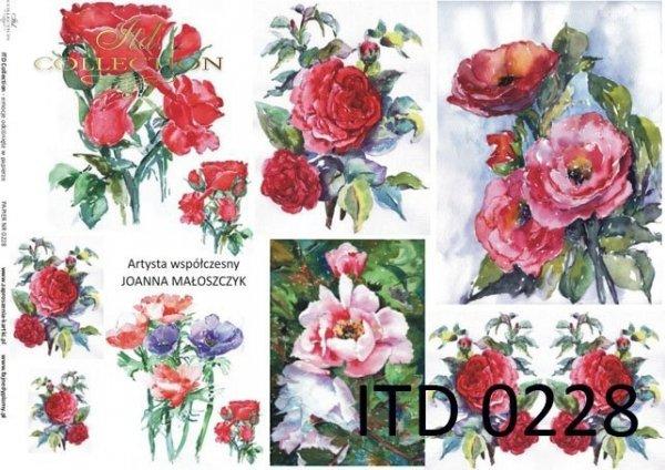 Decoupage paper ITD D0228