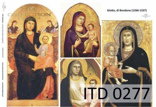 Decoupage paper ITD D0277