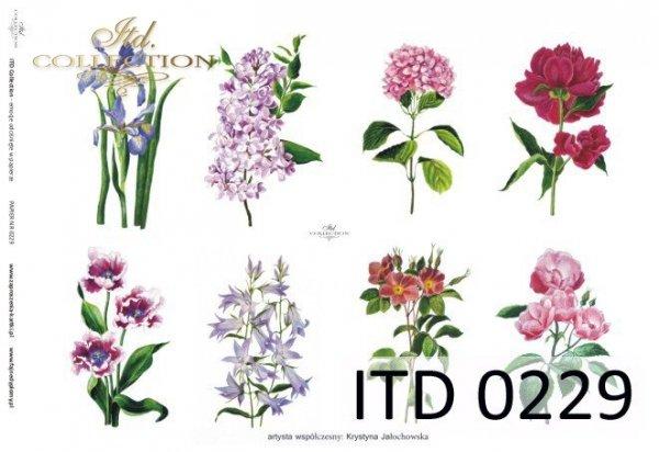 Decoupage paper ITD D0229