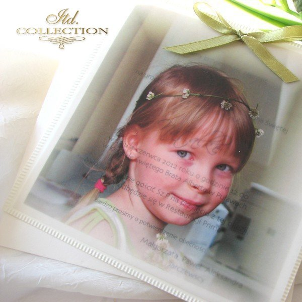 Holy Communion Invitation 1440 with photo