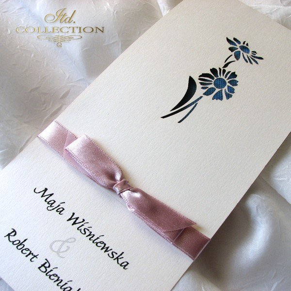 Invitations / Wedding Invitation 01722_72_blue