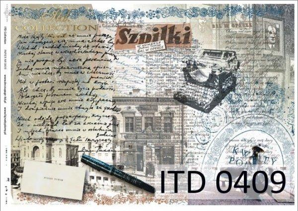 Decoupage paper ITD D0409