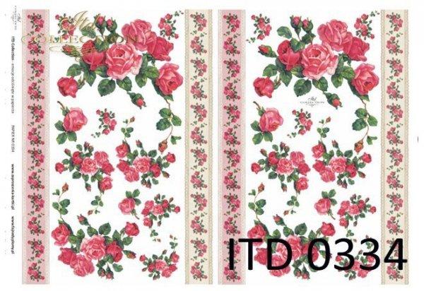 Decoupage paper ITD D0334