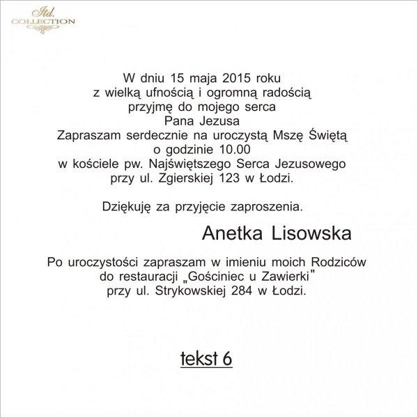 Tekst na komunię - TK6