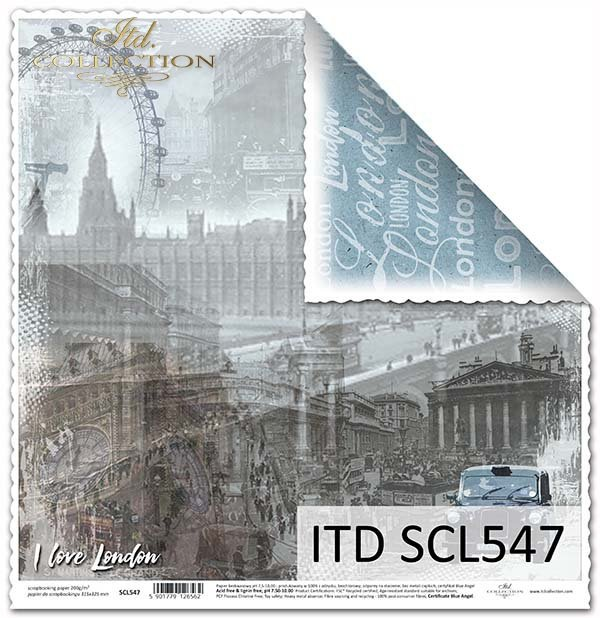 Papier scrapbooking SCL547