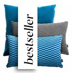 Niebiesko Szary zestaw poduszek Pram + Break + Wełna