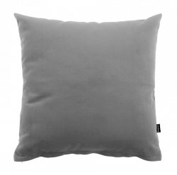 Pram Szara welurowa poduszka dekoracyjna 45x45 cm