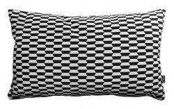 Break czarno-biała poduszka dekoracyjna 50x30