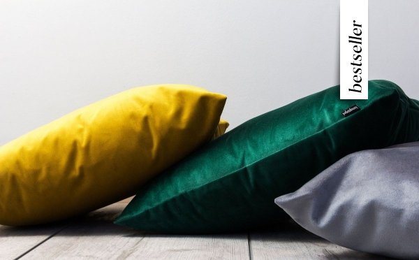 Velvet ciemno zielona poduszka dekoracyjna 50x30