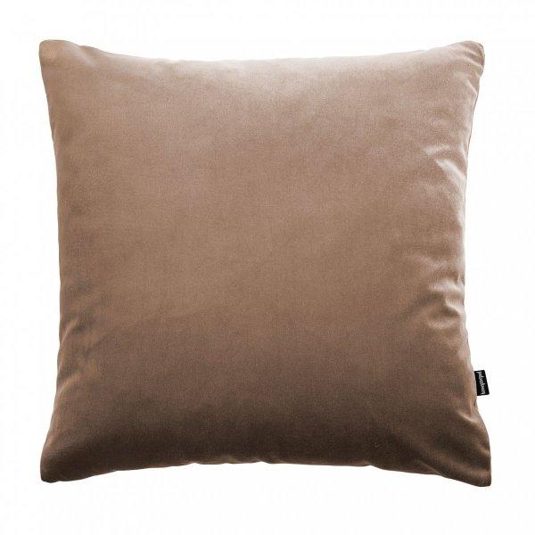 Velvet beżowa poduszka dekoracyjna 45x45