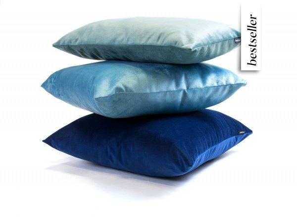 Velvet granatowa poduszka dekoracyjna 45x45