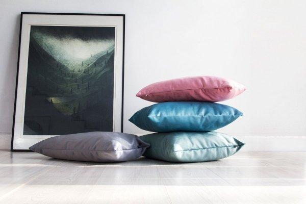 Velvet miętowa poduszka dekoracyjna 50x30