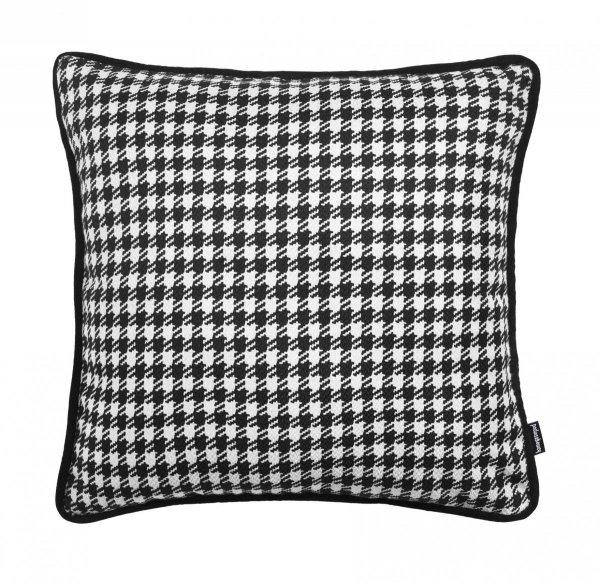 Poduszka w czarną pepitkę 45x45