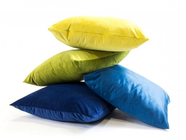 Velvet miętowa poduszka dekoracyjna 45x45