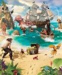 Tapeta dla dzieci - Pirate Adventure - 3D - Walltastic
