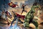 Fototapeta dla dzieci - Avengers Street race Marvel - 368x254cm