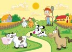 Fototapeta dla dzieci - Farmer i zwierzaki - 254x183 cm
