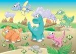 Fototapeta dla dzieci - Dino, dinuś, dinozaury - 254x183 cm