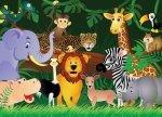 Fototapeta dla dzieci - Dzikie zwierzaki - 254x183 cm