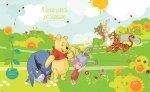 Fototapeta dla dzieci - Kubuś Puchatek i Przyjaciele - Ogród - 368x254 cm