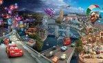 Fototapeta - Auta Cars Disney Wyścig - 254x184cm