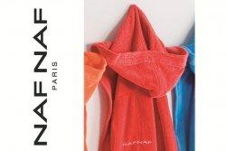 Szlafrok - Czerwony - 100% Bawełna - Romiar L - NAF NAF