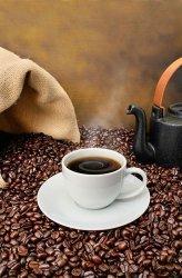 Fototapeta do kuchni - Old fashioned coffee brewing - 115x175 cm