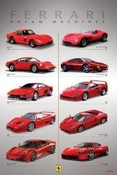 Ferrari (Dream Machines) - plakat