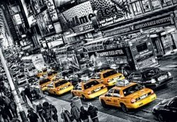 Fototapeta do salonu - Żółte taksówki (New York) - 366x254cm