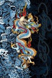 Ed Hardy - blue dragon - plakat