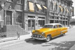 New York - taxi car - plakat