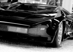 Czarna bestia (Sport car) - fototapeta 254x183 cm