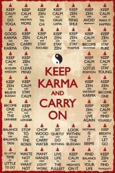 Keep Karma And Carry On - plakat