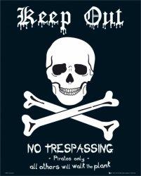 PiratesKeep Out - plakat