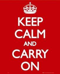 Keep Calm - plakat