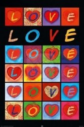 Serduszka - Love Hearts - plakat