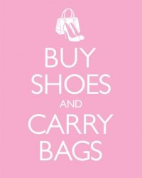 Keep Shoes And Carry Bags - plakat