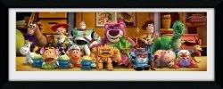 Obraz w ramie - Zdjęcie - Toy Story 3 Cast - 75x30 cm