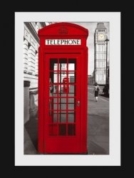 London Phonebox - obraz w ramie