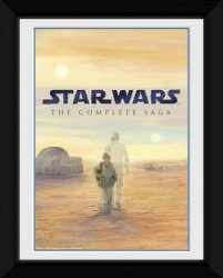 Star Wars Blu Ray Saga - obraz w ramie