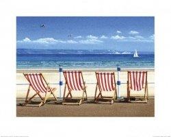 Leżaki na plaży - reprodukcja