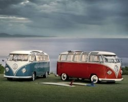 VW Camper Twin Kombis - plakat