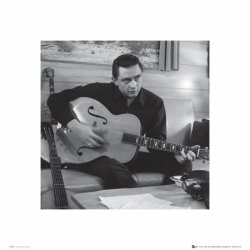Johnny Cash Man In Black (Guitar) - reprodukcja