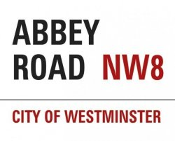 Abbey Road Sign - plakat