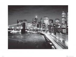 New York Manhattan Night - reprodukcja